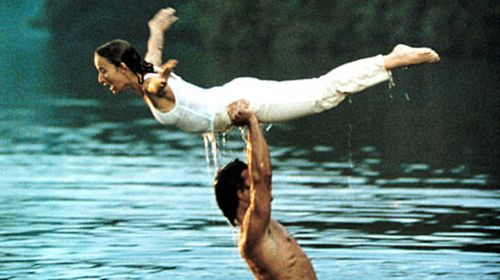 Patrick Swayze and Jennifer Grey in an iconic scene from the 1987 hit Dirty Dancing.