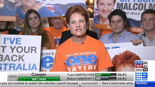 Pauline Hanson clashes with 9NEWS election panel (9News)