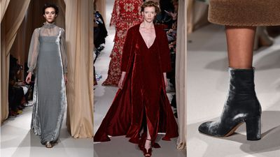 If velvet makes you think of medieval maidens, figure skaters and Willy Wonka, then this season is the time to let go of old prejudices.Thanks to Valentino, Givenchy and Ralph Lauren, the material is going back to its regal roots and adding an elegant feel to runways and red carpets alike. Here, we chart the trend from designer catwalk to front row. <br><br>