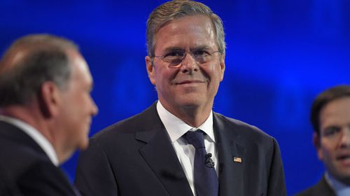 Former Florida governor Jeb Bush in yesterday's debate. (AAP)