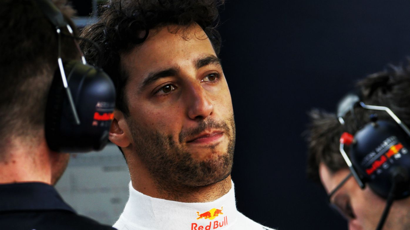 Daniel Ricciardo speaks to media