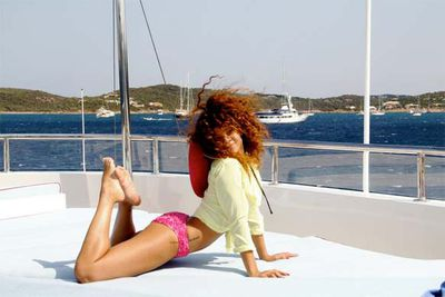 Rihanna shares pics of her vacation sailing around the coast of Italy.<br/><br/>That looks comfortable!