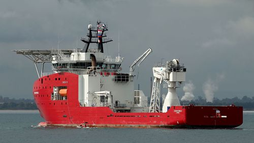 Ocean Shield, an Australian Defence Vessel participating in the search for missing Malaysia Airlines Flight MH370. (Getty Images)