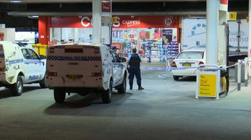 Emergency services were called to a service station where they found a 19-year-old man with a puncture wound to his shoulder.
