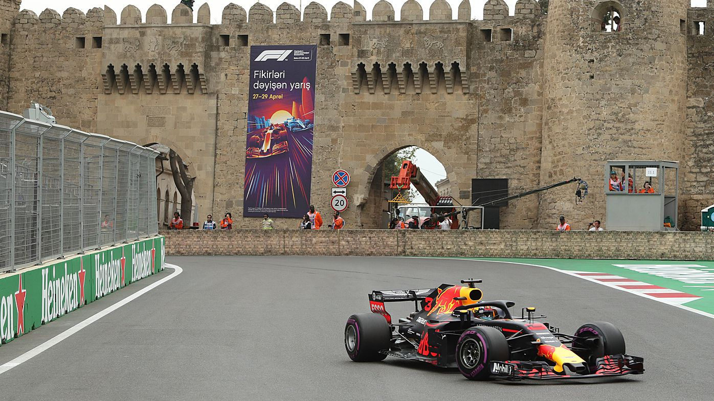 Ricciardo fourth, Vettel on pole in Baku