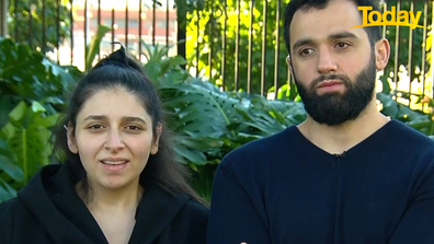 Sarah Haidar was forced into hospital isolation after undergoing an emergency c-section.