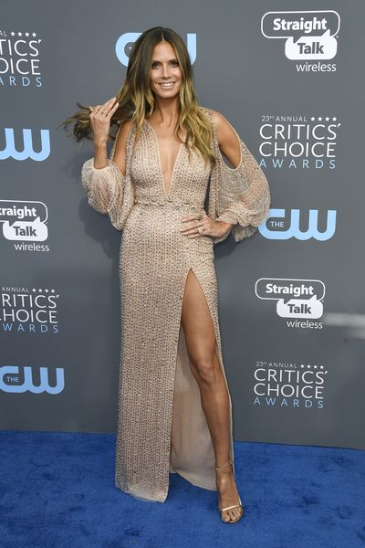 Model and TV Host Heidi Klum at the 2018 Critics Choice Awards