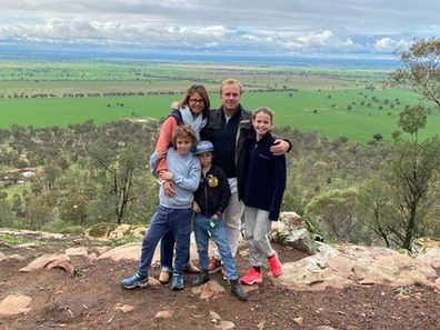 Antonia Kidman and her family