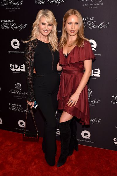 Christie Brinkley and Sailor Brinkley-Cook at the <em>Always At The Carlyle</em> premiere in New York, May, 2018