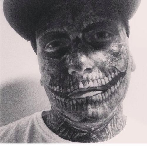 Talitha Ellery said that Bronson regretted his full-face tattoos because they made him a social outcast that looked more dangerous than he was. Picture: Facebook.