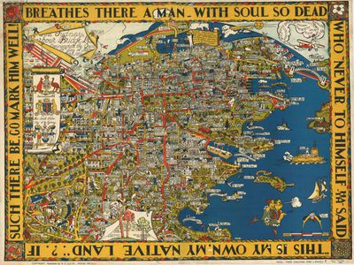 Russell Sydney Lloyd and Victoria Cowdroy map, 1932