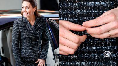 Kate Middleton Duchess of Cambridge no engagement ring hospital visit