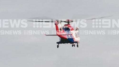 The man was flown to the Alfred Hospital, about 90 minutes drive from the festival. (9NEWS)
