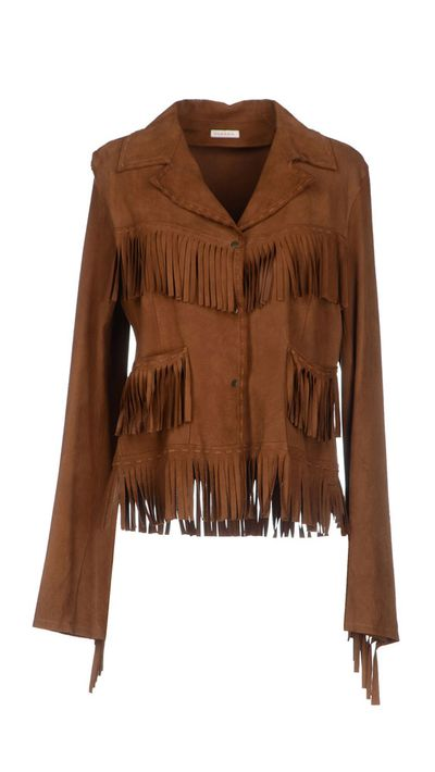 <p>The fringed suede jacket</p>