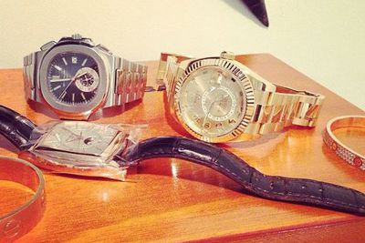 @letthelordbewithyou: The bare essentials #patek #rolex #cartier
