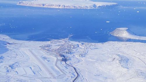 The US has an air force base of strategic importance in Greenland's north.