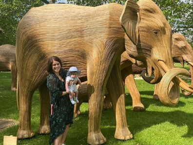 Princess Eugenie with son August
