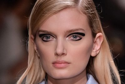 <p>Playful eyeliner was a key theme throughout Fashion Month, with runways focused firmly on the eyes. Honey rounds up the best looks and explains how to get creative at home. Pictured: Rochas.</p>