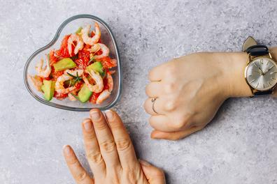 Salade De Crevettes Et Horloge