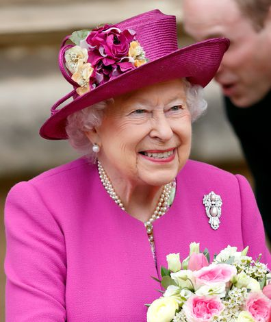 Queen triangle brooch