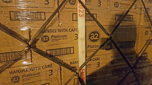 The pallet loads contained a2 Platinum Toddler Milk as well as other brands of baby formula.