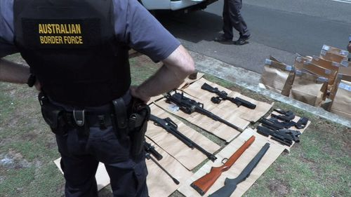 Police were first made aware of the man's activities after officers at the Sydney International Mail Gateway intercepted a number of mail items containing firearm parts.