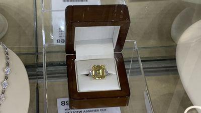 A $850,000 diamond ring