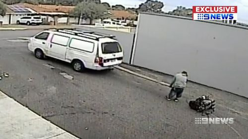 The entire ordeal was caught on camera. (9NEWS)