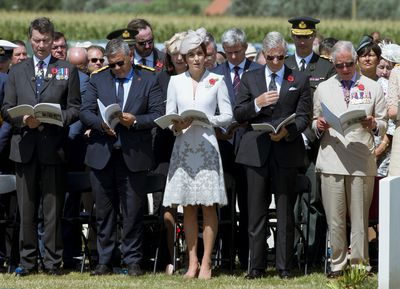 British and Belgian royals mark the WWI Passchendaele centenary.