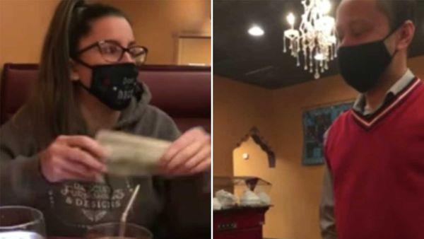 Waiter declines $2021 tip in a restaurant