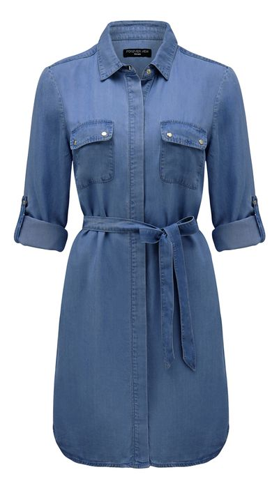 "<a href=""http://www.forevernew.com.au/selena-denim-shirt-dress-228870?colour=dark+wash"" target=""_blank"">Dress, $79.99, Forever New</a>"