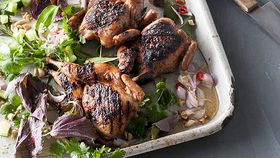 Leanne Kitchen and Antony Suvalko's barbecued five-spice quail