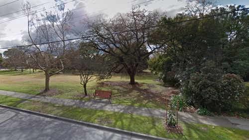 The young girl was dragged into a secluded part of the park after being threatened with a cricket bat. Picture: Google Maps