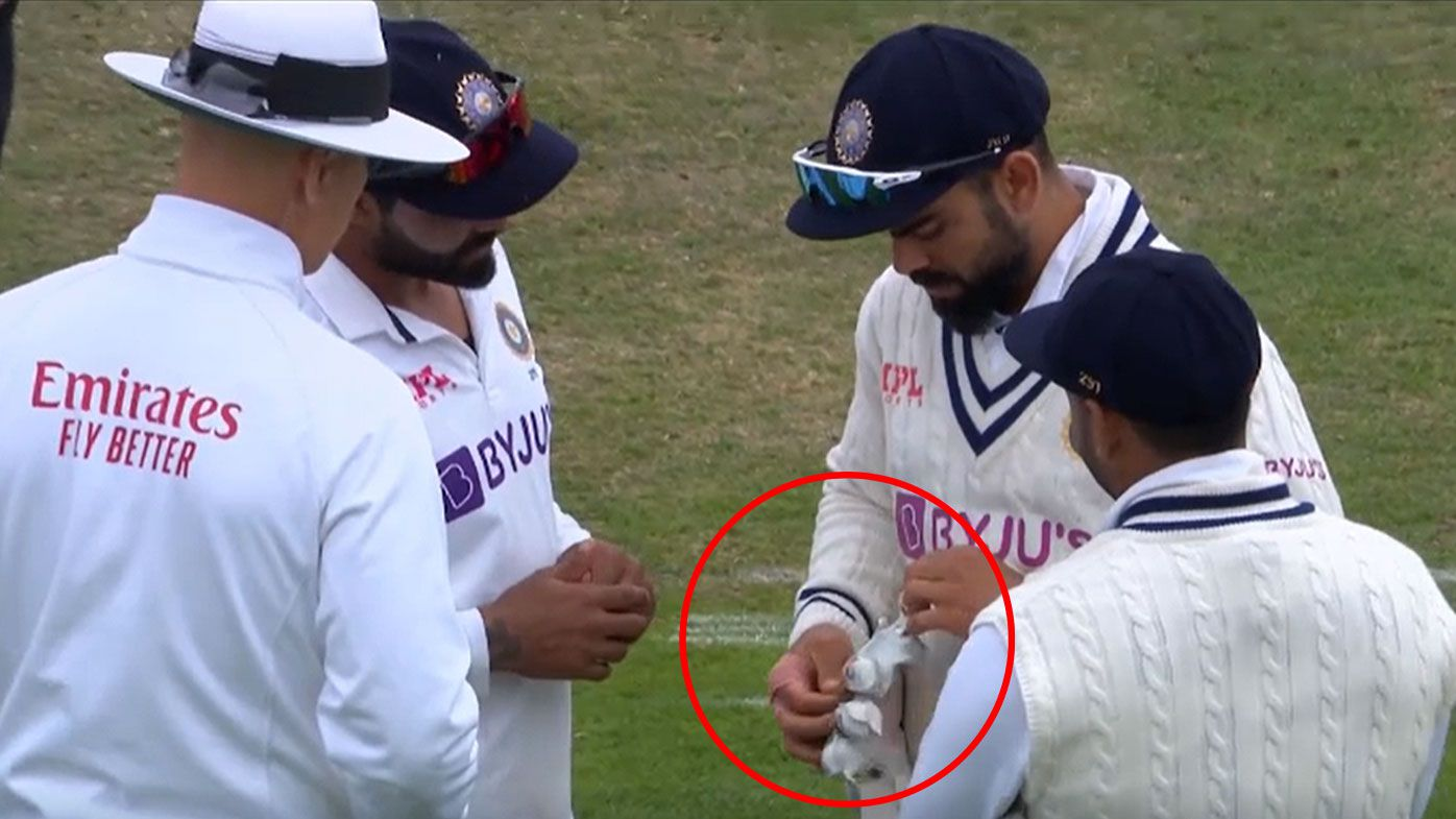 Glove controversy during the third Test