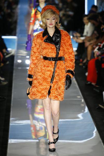 Gigi Hadid at Moschino A/W '18, Milan Fashion Week