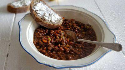 """<a href=""""http://kitchen.nine.com.au/2016/06/06/12/54/greek-lentil-stew"""" target=""""_top"""" draggable=""""false"""">Greek lentil stew</a>"""