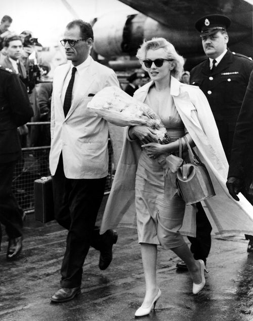Marilyn Monroe drove the car to her wedding with playwright Arthur Miller.
