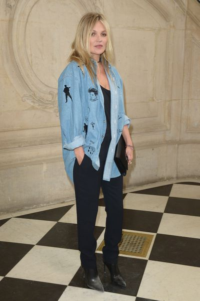 Kate Moss in Dior at Christian Dior, Paris Fashion Week