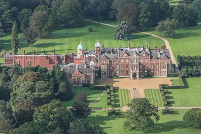 Queen Elizabeth II's Country resident, Sandringham Hall