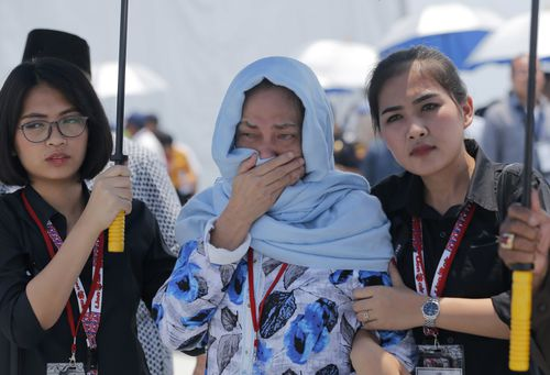 Family and friends of the Lion Air victims gathered at he crash site to farewell their loved ones after the October 29 tragedy.