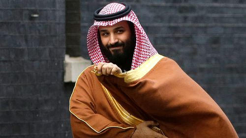Saudi Crown Prince Mohammed bin Salman arrives to meet Prime Minister Theresa May outside 10 Downing Street in London in March 2018. Saudi Arabia is moving ahead with plans to hold a glitzy investment forum that kicks off Tuesday, despite some of its most important speakers pulling out in the global outcry over the killing of Saudi journalist Jamal Khashoggi.