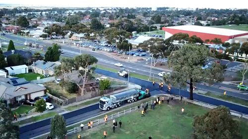 Rayfield Avenue in Melbourne is Australia's first road utilising a combination of soft plastics and glass. (Supplied)