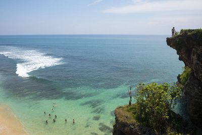 Balangan Beach<br /> If you love surfing but are put off all the crowds, we recommend visiting Balangan beach.<br /> The beach is just a few steps down from the cliff, but it&rsquo;s worth the extra exercise for the incredible panoramic view.<br /> The beautiful landscape is also a hotspot for photographers and those looking to get some great holiday snaps. &#160;<br /> Image/Getty