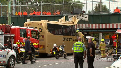 Mr Aston told police he didn't see the signs before he allegedly crashed the bus.