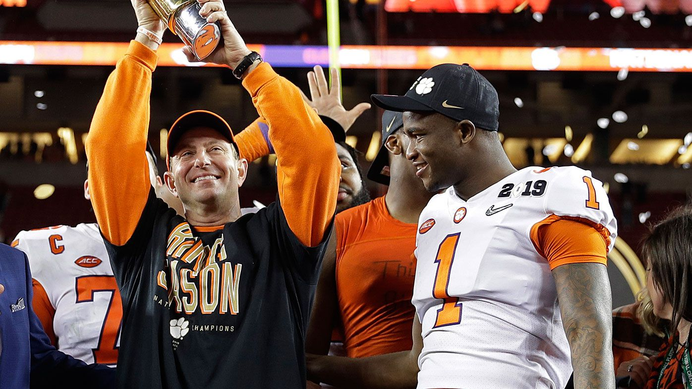 Swinney celebrates winning