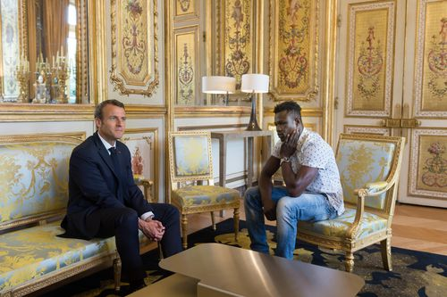 Mr Gassama was thanked personally by the French President. Picture: PA