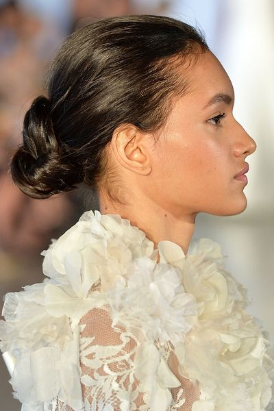 Oscar de la Renta's runway offered up a slightly undone version of the traditional ballerina bun.