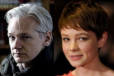 Ever looked deep into the twinkling eyes of Brit babe <b>Carey Mulligan</b> and felt the piercing glare of cypher-punk <b>Julian Assange</b> cut right through you? Well, you will now!<br/>