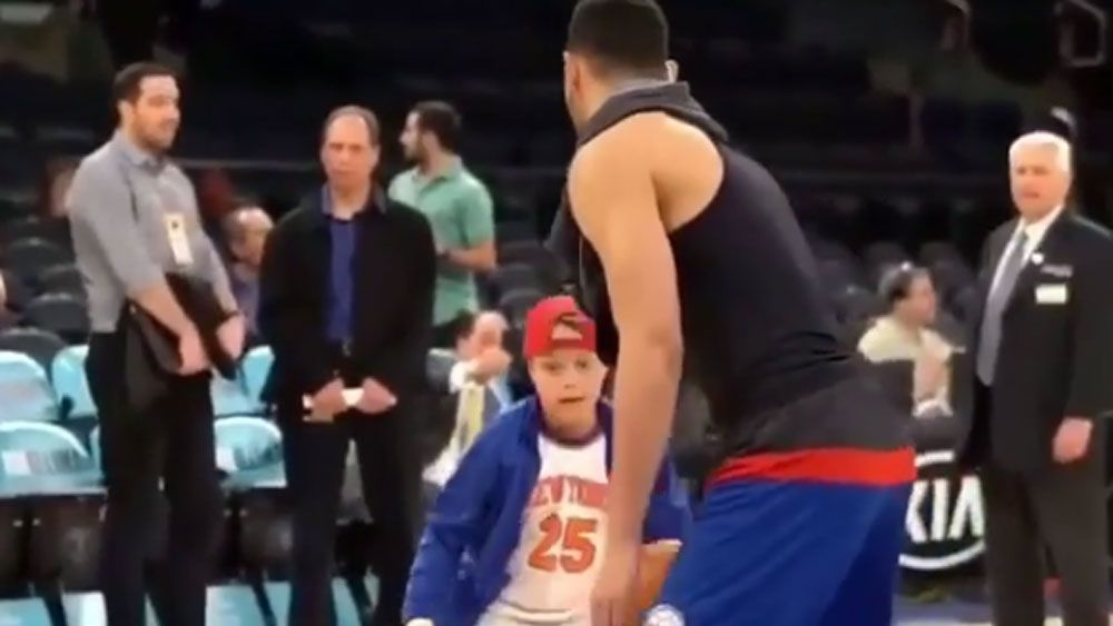 Philadelphia 76ers no. 1 draft pick Ben Simmons rejects young fan's shot