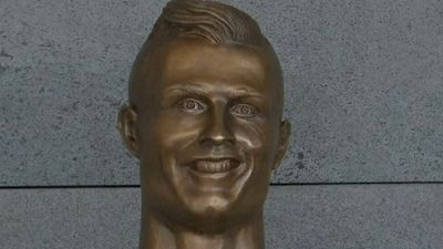 Cristiano Ronaldo's infamous bust at Madeira Airport replaced, petition started to bring it back